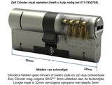 Toeslag Nabestellen M&C cilinder op codekaart, toeslag achteraf per cilinder_