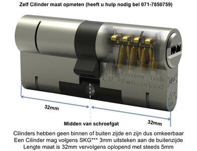 Toeslag Nabestellen M&C cilinder op codekaart, toeslag achteraf per cilinder